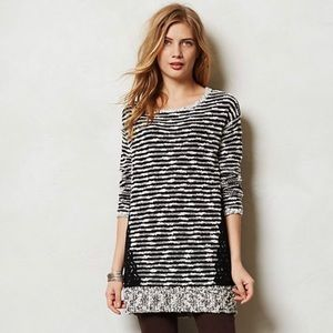 Anthro Staccato striped tunic sweater by Moth.
